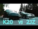 Toyota Aristo 2JZ GTE VS Honda Integra Type R K20 и Mark 2 1JZ GTE