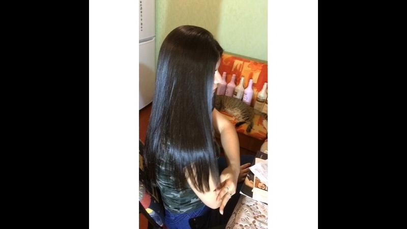 Волосы из рекламы Пантин!) результат после мытья волос