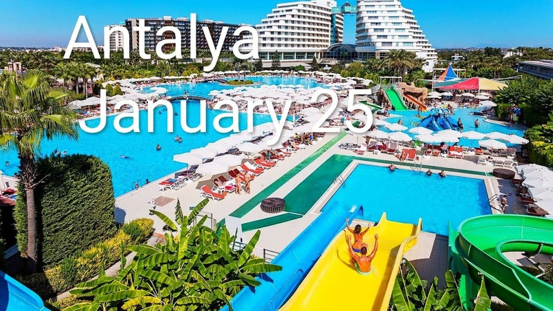 Antalya-Turkey in the winter of January 25. 安塔利亞 - 土耳其在1月25日的冬天