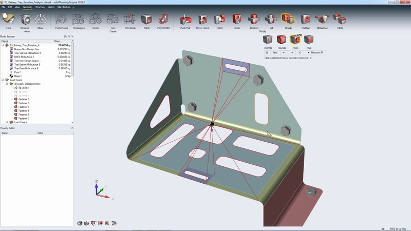 SolidThinking Inspire - Sheet Metal Optimization