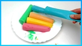 Learn colors with ice cream and chuuggington trains toys for kids fun playclaytv five little balloon