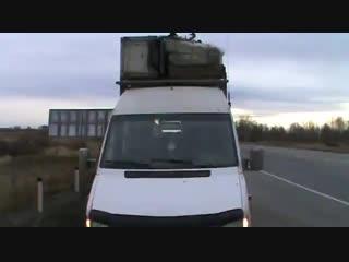Перевозка 20 человек в грузовом автомобиле!