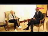 Эллен и Порша у президента Руанды