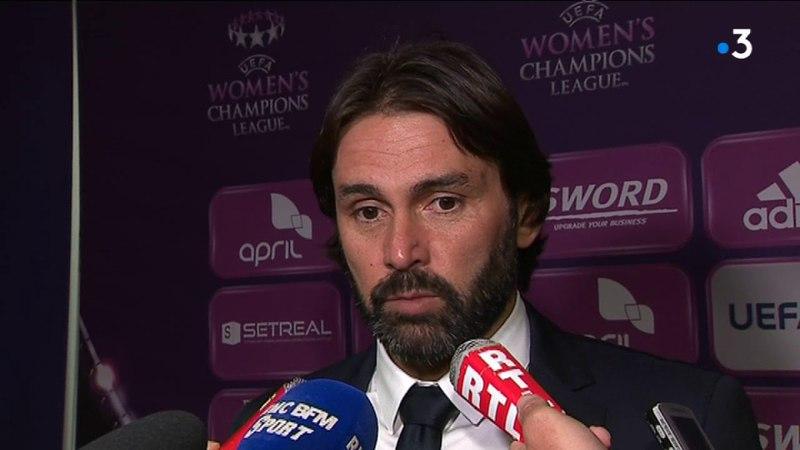 Réaction de Reynald Pedros, entraîneur de l'OL Féminin