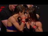 #UFCCalgary : Joanna Jedrzejczyk vs. Tecia Torres Staredown