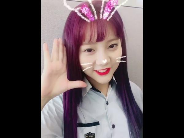 한림예고_다이아 은채 컴백 인사 영상