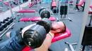 Фрагмент с тренировки грудных мышц