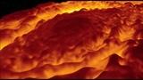 Видео Полет над планетой Юпитер. Видео полета над северным полюсом Юпитера. Фото.
