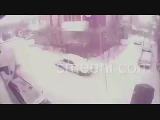 Снежная гроза в Бузэу ( Румыния, 11.01.2019)