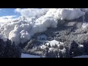 An avalanche blast can be so beautiful Switzerland