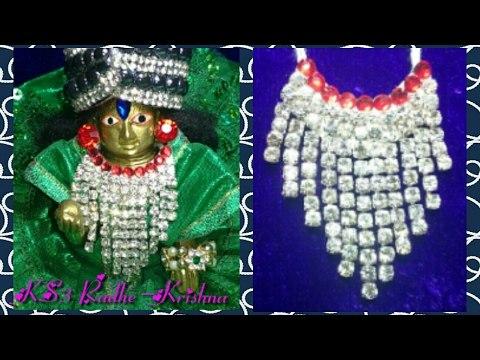 How to make NecklaceHaarMala for Ladoo GopalBal Gopal, Krishna, ludoo, Kanha, thakurji, god