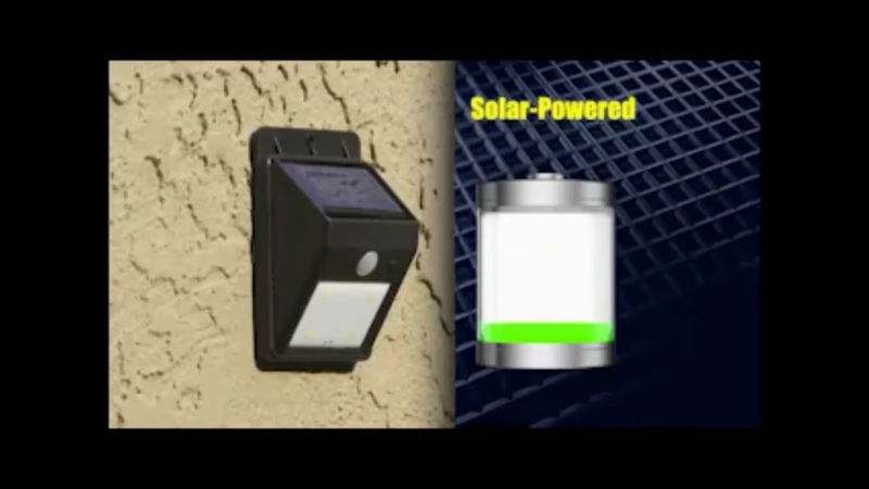 EverBrite Solar Power Porch Light As Seen On TV online video cutter com