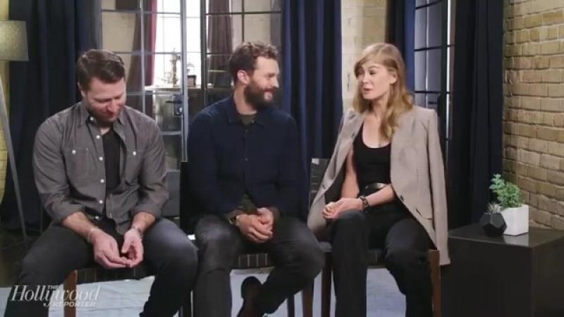 Интервью @mheineman с Джейми Дорнаном и Розамунд Пайк для издания The Hollywood Reporter. часть 1