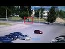 Момент наезда на велосипедиста на Московском проспекте. Чебоксары