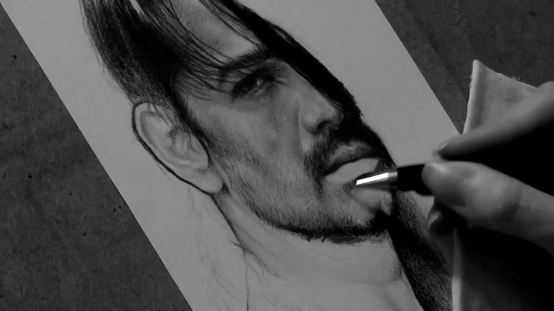 Drawing Tomo Milicevic pencil portrait Timelapse Late Bar's Art by Jane Negoda смотреть онлайн без регистрации