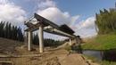 Строительство моста через реку Иййоки в Лахденпохском районе надвижка