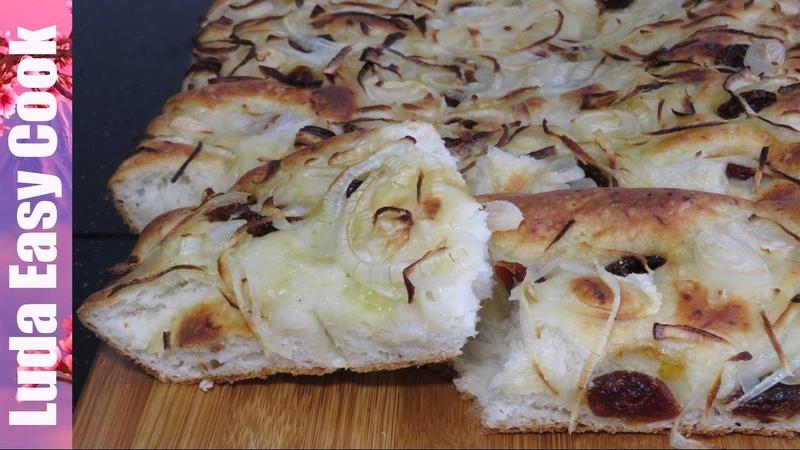 Хрустящая ФОКАЧЧА РЕЦЕПТ Хлеб с луком и помидорами The Bestest Focaccia Bread Ever recipe BÁNH MÌ Ý