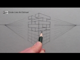 [Circle Line Art School] How to Draw using 2-Point Perspective: A Jenga Tower of Blocks