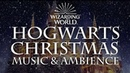 Harry Potter Music Ambience | Hogwarts Christmas Music with Snow Sounds