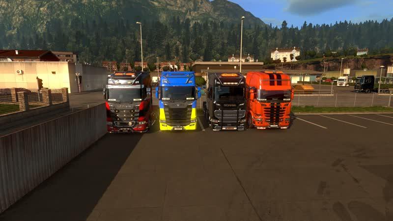 Эх поехали друзья Доставка грузов Euro Truck Simulator 2 TruckersMP 16 02 2019