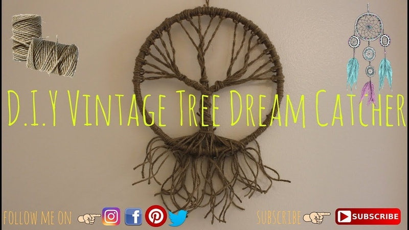 D.I.Y Vintage tree dream catcher | Easy and Fun | Dream Catcher *Home Decor*