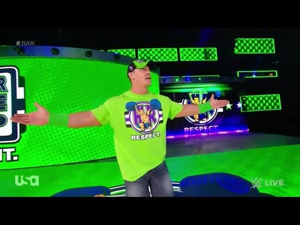 John Cena Entrance - RAW March 26. 2018 (HD)