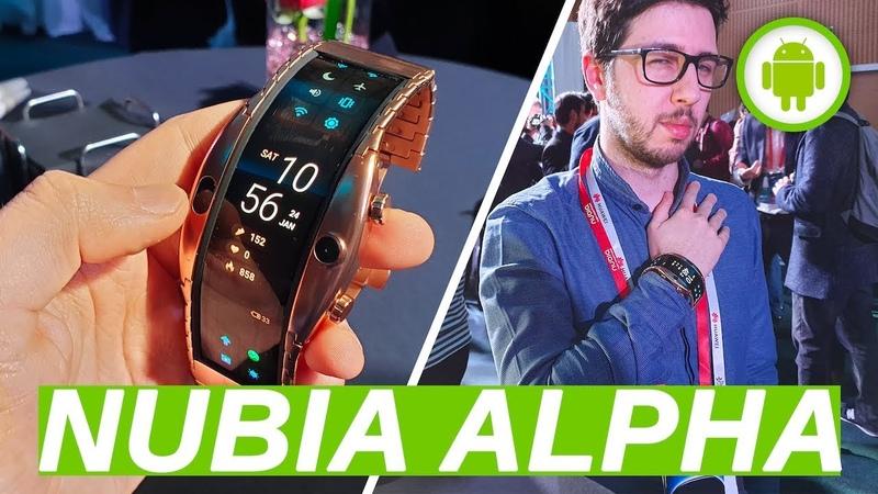 NUBIA ALPHA l'orologio telefono con OLED FLESSIBILE