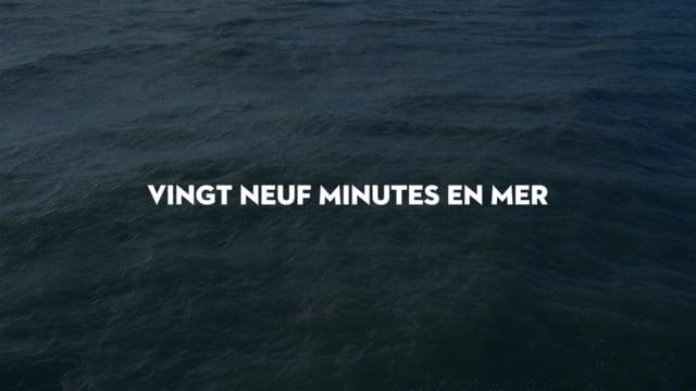 Jacques Perconte, Vingt neuf minutes en mer