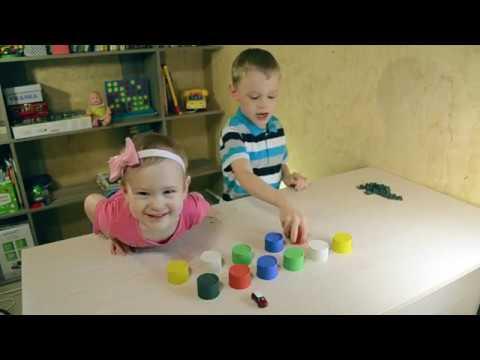 Играем с кинетическим песком Спрятанные игрушки