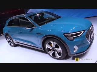 2019 Audi e-Tron 55 Quattro - Exterior and Interior Walkaround- Debut at 2018 Paris Motor Show