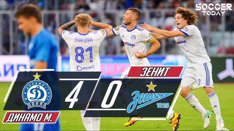 Динамо Минск - Зенит 4:0 Обзор матча HD | Лига Европы
