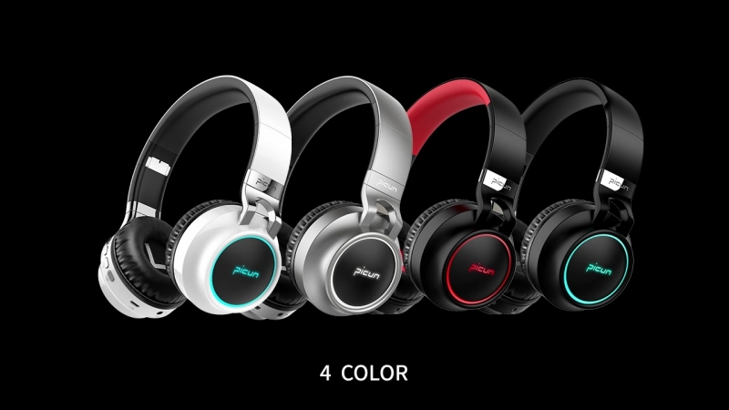 Support 7 colors golwing headphones p60