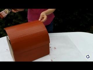 Как сделать сундук для сокровищ из картонной коробки