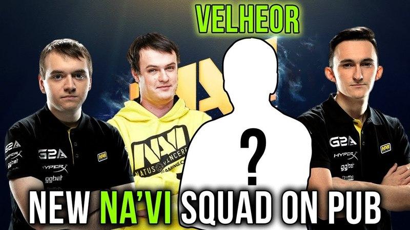 New Player on Na'Vi Velheor Testing his Teammates on PUB - Dota 2