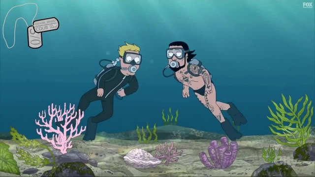 Death will come to those who engage in snorkeling with Dave Navarro