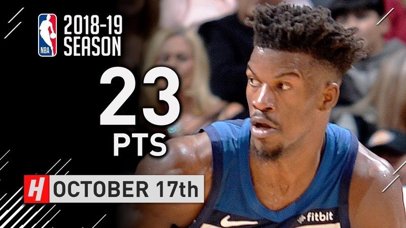 Jimmy Butler Full Highlights Wolves vs Spurs 2018.10.17 - 23 Pts, The RETURN!