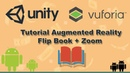 Tutorial Unity flip book with zoom with Augmented reality (Vuforia)