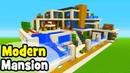 Minecraft Tutorial: How To Make A Modern Mansion 6