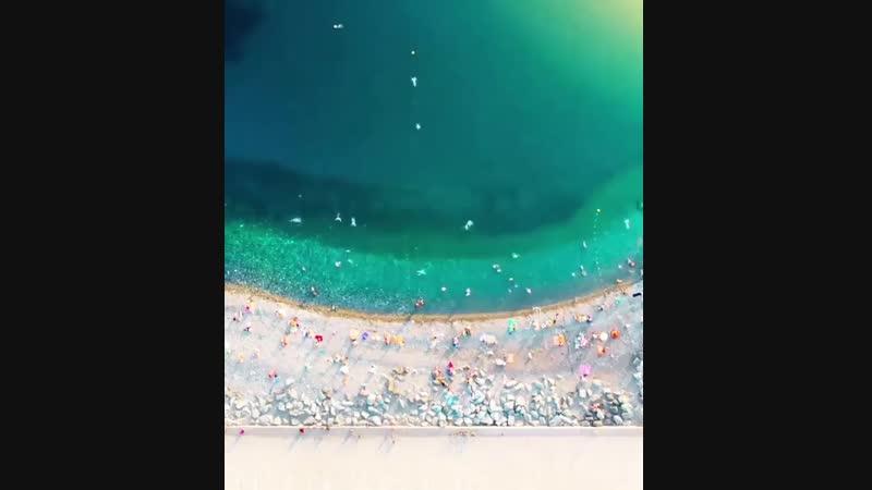Таймлапс пляжа в Сочи (ускоренное видео)