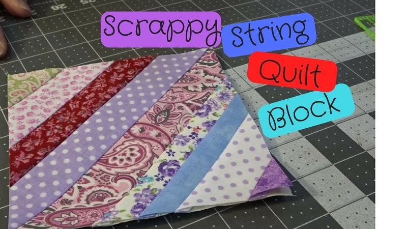 How to Make A Scrappy String Quilt Block