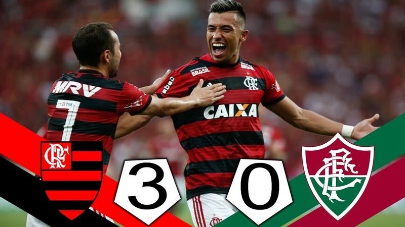 Flamengo 3 x 0 Fluminense - Melhores Momentos COMPLETO - Brasileirão