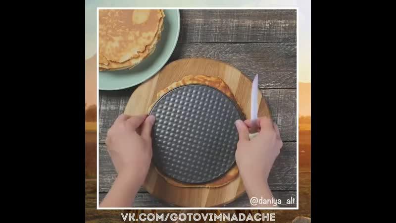 Медовый торт на сковороде. Гости сметут за минуту. Само наслаждение...