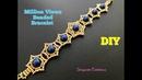 Million Views Beaded Beaded Bracelet. How to make beaded bracelet.8mm Pearls