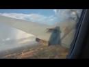 Видео падения самолета заснял пассажир