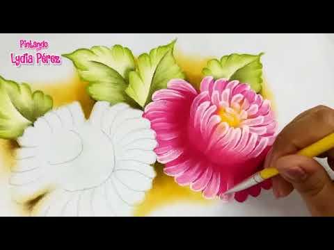 Pintura en tela como pintar crisantemos