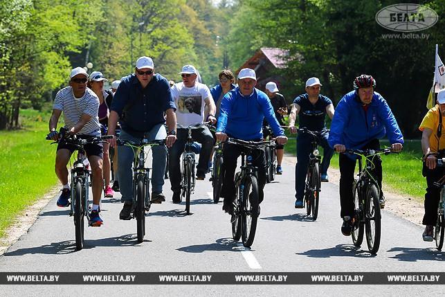 В Беловежской пуще финишировал велопробег Bike4SDGs