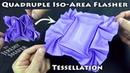 Quadruple Iso Area Flasher Tessellation