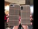 Classic England Retro Checkered Case Celulare For iPhone 8 6 6plus 8Plus X Soft Telefon Kilifi For IPhone 7 Fabric Funda Vintage