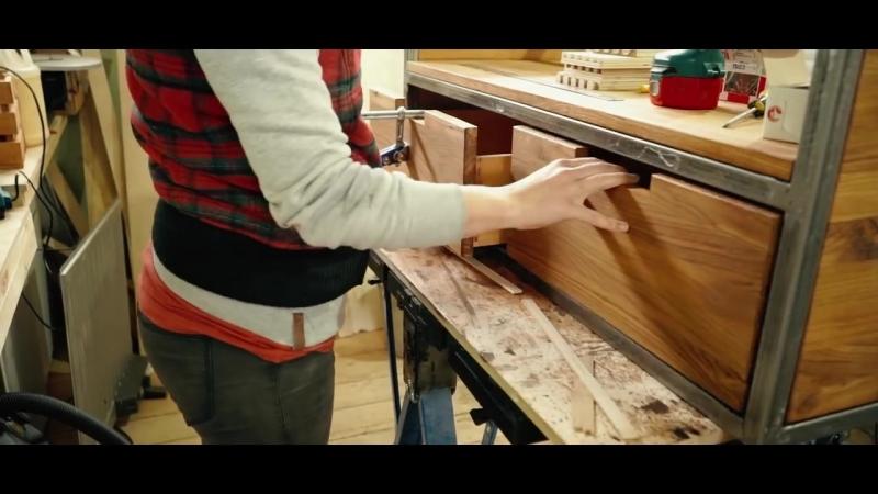 Стол под раковину в стиле Loft из металла и дерева Мебель своими руками