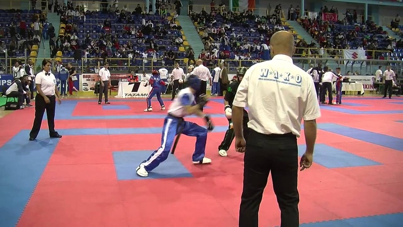 Daniil Efimov v Jordan White WAKO Junior European Championships 2013